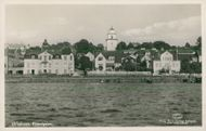 Postcard over Strandgatan in Ulricehamn.