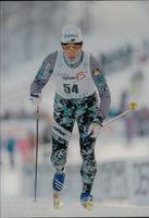 Ski World Cup in Vuokatti. Uwe Bellman in the track