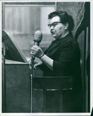 Mrs. Elva Miller addressing. 1967