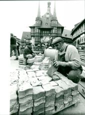Pavement for the town hall of Wernigerode