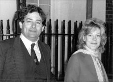 Nigel Lawson with wife Therese.