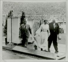 """""""Peace Dove"""" Barbara Rotrant-Pleyer is taken away from the speaker chair during the opening ceremony"""