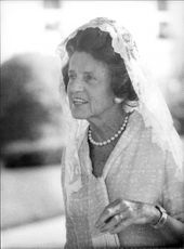 Portrait image of Rose Kennedy taken in an unknown context.
