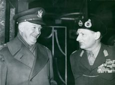 General Dwight D. Eisenhower with Field Marshal Viscount Montgomery