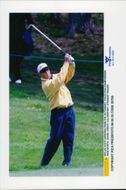 Golf player Niclas Fasth under Volvo PGA 1996