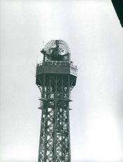 View of a tower's top.  - Aug 1960