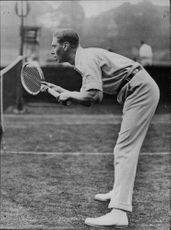 King George VI plays tennis with Norman Brookes in Wimbledon