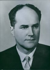 Portrait of Czech Politician Jan Piller, 1963.