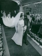 Princess Margriet of the Netherlands and her husband Pieter van Vollenhoven in their wedding.
