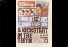 Mirror Newspapers - British National Daily Tabloid Prince Charles and Camilla Bowles on Headline