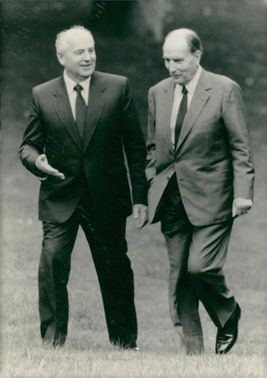 Gorbachev and mitterrand.