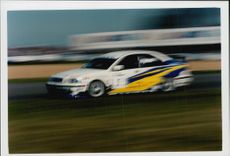 Rickard Rydell during the BTCC contest at Donnington Park
