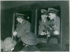 Dr Agge of the Swedish Red Cross Ambulance Service, going to The second Italo-Ethiopian War 22nd of October 1935.