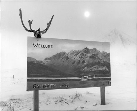 Welcome sign to Galbraith construction.