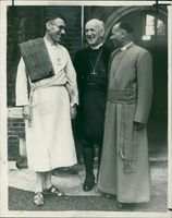 Geoffrey Fisher with Rev. C. Murray Rogers and Rev. Obadiah Kariuki.