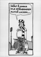 Drawing of Hammarby supporter