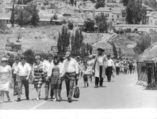 People walking the streets of Israel.