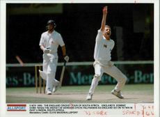 Dominic Cork English cricketer Takes The Wicket of Steve Palframan.