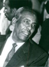 Mohamed Siad Barre communicating.