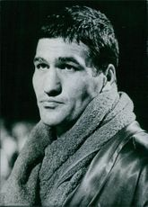 Portrait of a Yugoslav boxer and Light heavyweight boxing champion of the World Mate Parlov. 1978