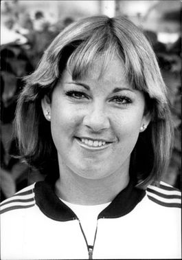 American tennis player Chris Evert