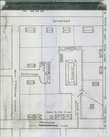 A layout and map of buildings and road.