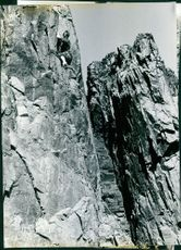 Man climbing on clifs