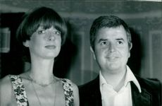 Rodney Bewes with his wife.