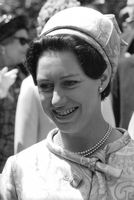 A portrait of Princess Margaret.