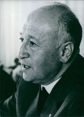 East German politician, Prof. Albert Norden, 1966.