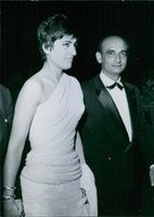Irene Papas with Michael Cocoyannis at the Cannes Film Festival.