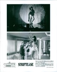 Demi Moore and Burt Reynolds star in Striptease.