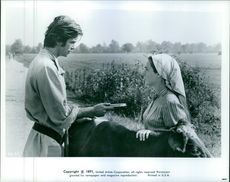 "1971 A scene from the  American musical comedy-drama film produced and directed by Norman Jewison ""Fiddler on the Roof"""