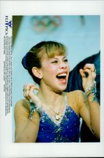 Winter Olympics in Nagano 1998. Figure skating. Tara Lipinski took gold