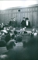 A trial in the court.