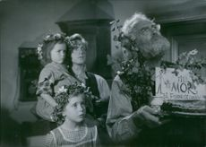 Victor Sjöström and Stig Olin in a scene from the film Ordet (The Word), 1943.