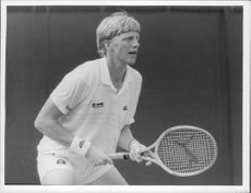 The German tennis player Boris Becker.