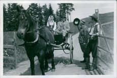 """A scene from the 1956 Swedish drama film, """"Song of the Blood-Red Flower""""."""
