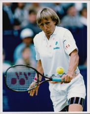 Action image of Martina Navratilova taken in an unknown context.