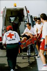 Johan Fagrell broke the clavicle when he ran together with team mate Michael Andersson in the team pace competition.