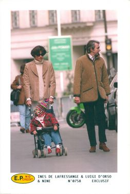 The Ines de la Fressange model with her husband and child