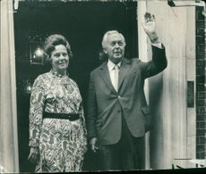 Harold Wilson Former British Prime Minister with his wife.