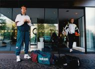 Stefan Edberg after his 1000th played tennis match in the Eurocard Cup in 1995