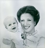 Princess Anne with her baby son, Master Peter Phillips, who was born on 15th November 1977.