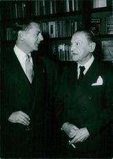 Viscount Maugham with his uncle Somerset Maugham.