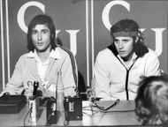 Tennis player Ilie Nastase during press conference