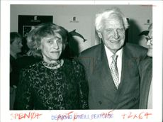 Sir Stephen & Lady Spender at a party