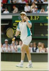 Andre Agassi during his opening match.