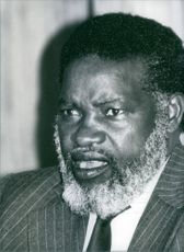 South African Nationalist leader, Sam Nujoma, 1984.