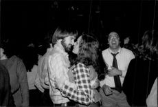 "Jimmy Connors is dancing with his wife Patti at the nightclub ""Xenon"" in New York"